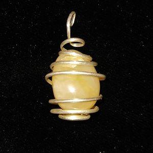 Yellow Stone Necklace Pendant